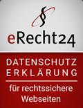 eRecht24 Rechtssichere Datenschutzerklärung